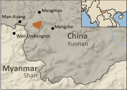 Map of Kucong in China