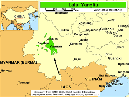 Map of Lalu, Yangliu in China