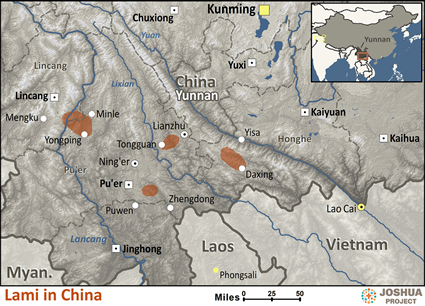 Map of Lami in China