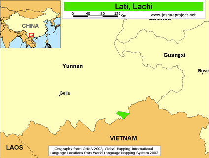 Map of Lachi in China