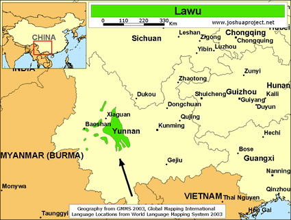 Lawu in china joshua project map source joshua project global mapping international gumiabroncs