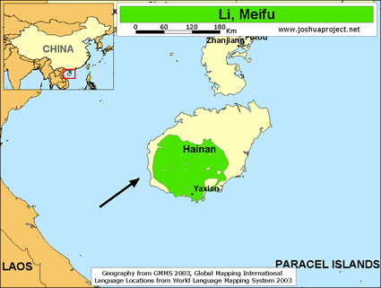 Map of Li, Meifu in China