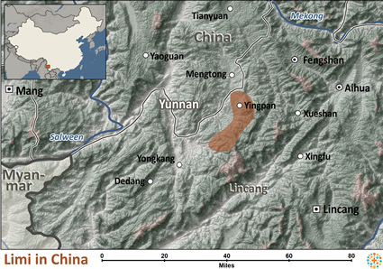 Map of Limi in China