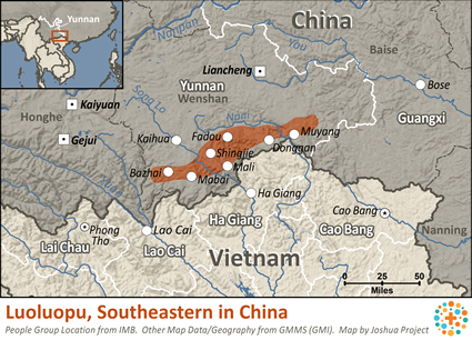 Map of Luoluopo, Southeastern in China