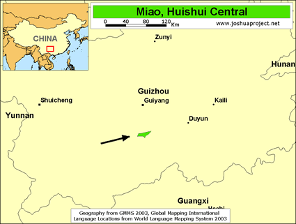 Miao, Huishui Central in China