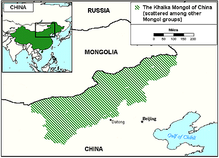 Mongol, Khalka in China