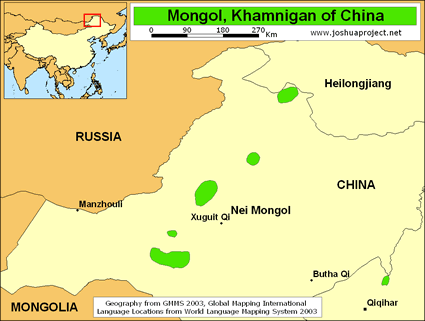Mongol, Khamnigan in China