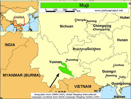 Map of Muji, Southern in China
