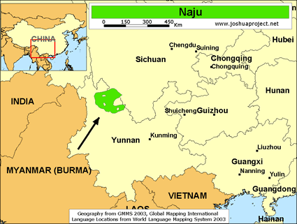 Naju in china joshua project map source joshua project global mapping international gumiabroncs