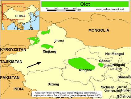 Map of Olot in China