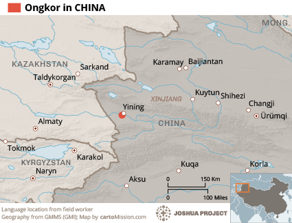 Map of Ongkor in China