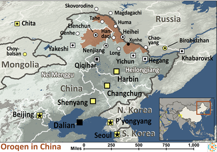 Map of Oroqen in China
