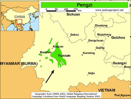 Pengzi in china joshua project map source joshua project global mapping international gumiabroncs Choice Image