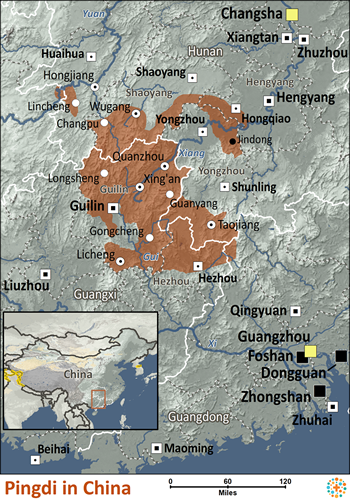 Map of Pingdi in China