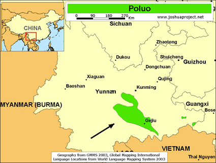 Map of Poluo in China