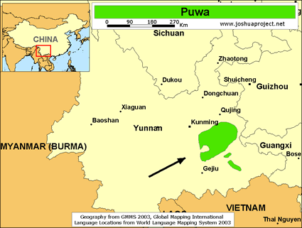 Map of Phowa, Hlepho in China