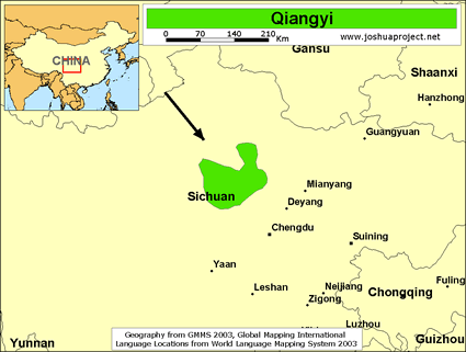Map of Qiangyi in China
