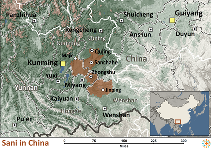Map of Sani in China