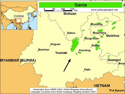 Sanie in china joshua project map source joshua project global mapping international gumiabroncs