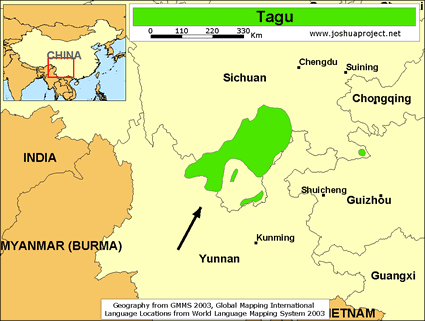Map of Tagu in China