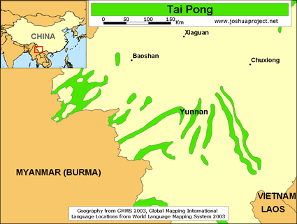 Map of Tai Pong in China