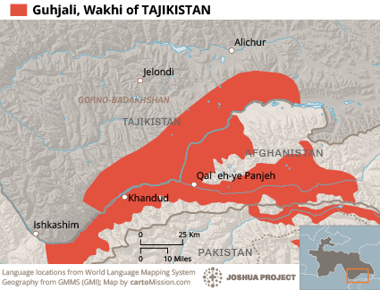 Map of Khik (Wakhi) in Tajikistan