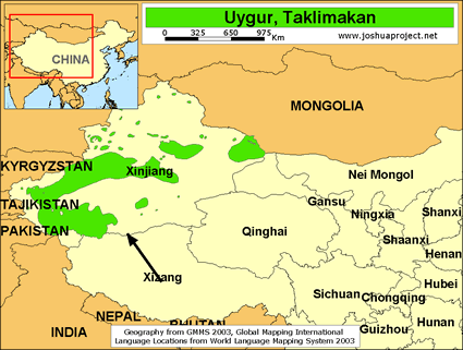 Uygur, Taklimakan in China