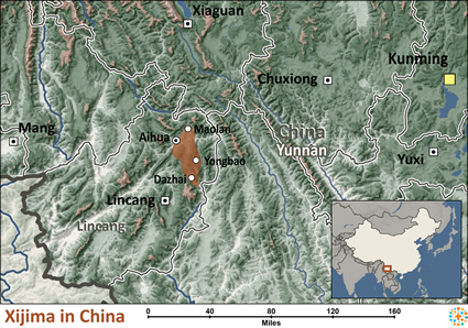 Map of Xijima in China