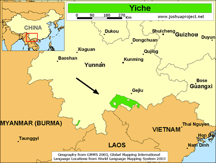 Map of Yiche in China
