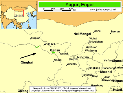 Yugur, Enger in China