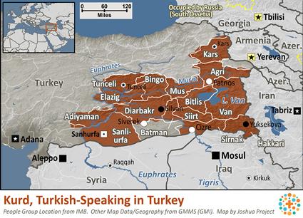 Kurd, Turkish-Speaking in Turkey | Joshua Project