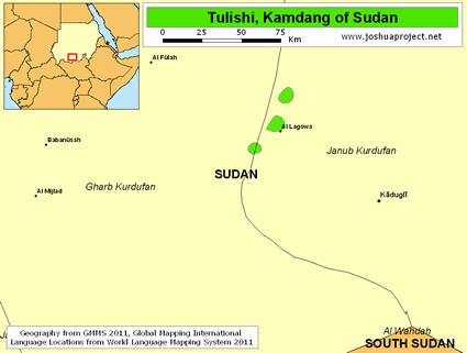 Tulishi, Kamdang in Sudan