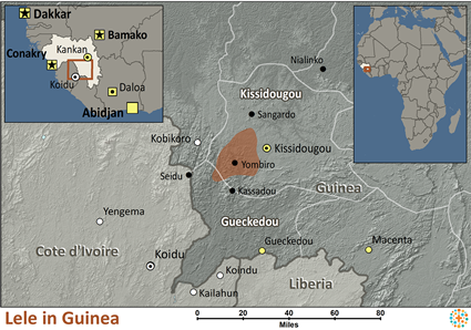 Map of Lele in Guinea