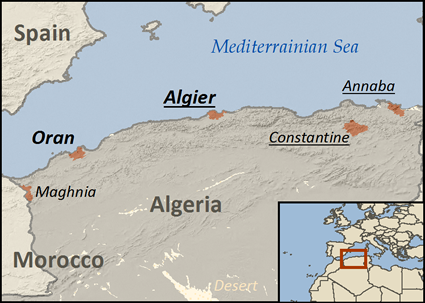 Map of Deaf in Algeria