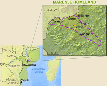 Marenje in Mozambique
