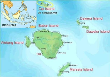 Map of Dai in Indonesia