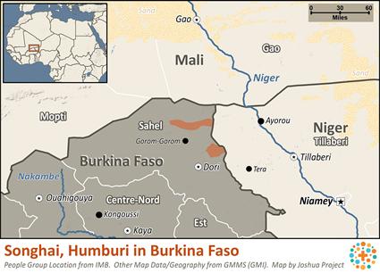 Songhai Africa Map.Songhai Humburi In Burkina Faso Joshua Project