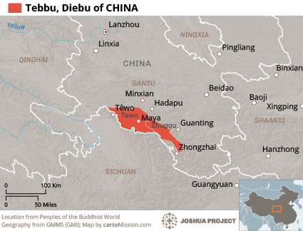 Map of Tebbu in China
