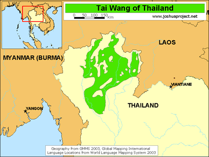 Map of Tai Wang in Thailand