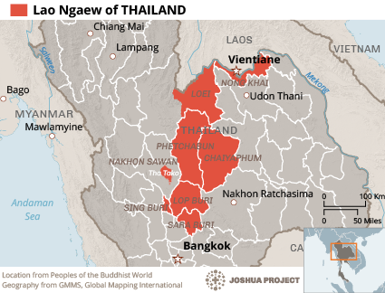 Map of Lao Ngaew in Thailand