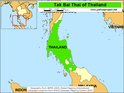Map of Thai, Tak Bai in Thailand