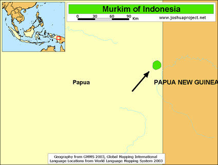 Map of Murkim in Indonesia