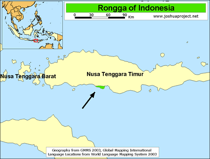 Map of Rongga in Indonesia