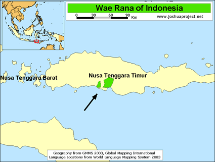 Wae Rana in Indonesia