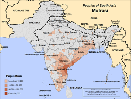 Map of Mutrasi in India