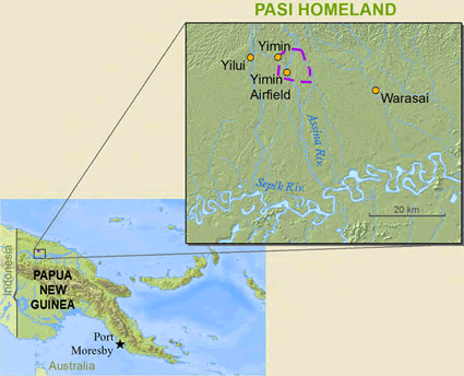 Map of Pasi in Papua New Guinea