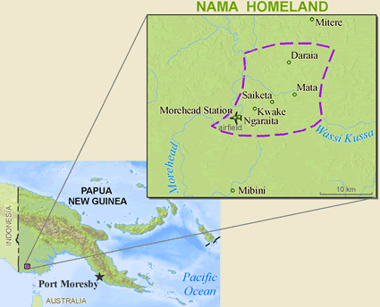 Map of Nama in Papua New Guinea