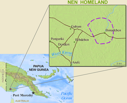 Map of Nen in Papua New Guinea