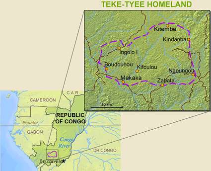 Map of Teke-Tyee in Congo, Republic of the