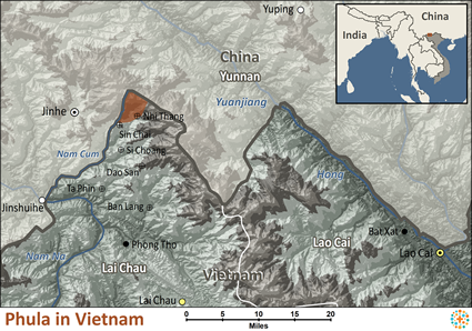 Map of Phula in Vietnam